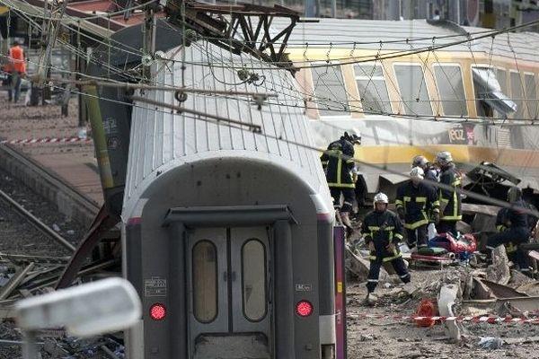 Le déraillement d'un train en gare de Brétigny-sur-Orge (Essonne) avait fait sept morts et des dizaines de blessés, le 12 juillet 2013.