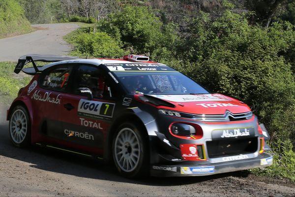 WRC/Tour de Corse - Le Britannique Kris Meeke (Citroen Abu Dhabi Total WRT)