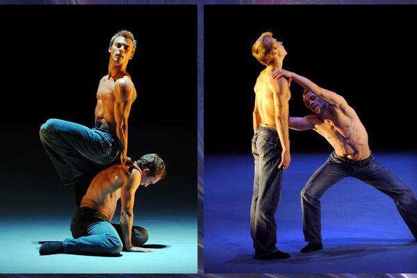 """Deux danseurs russes interprètent """"Les Indomptés"""" à l'Opéra de Bordeaux en octobre 2008."""