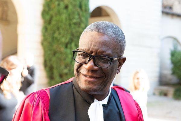Denis Mukwege a reçu la médaille de citoyen d'honneur de la Ville de Montpellier, samedi 9 octobre 2021.