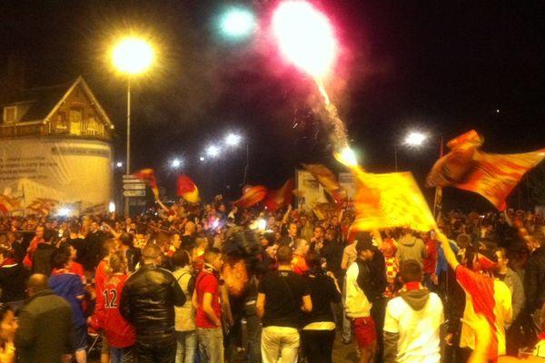 La fête ce vendredi soir dans les rues de Lens.