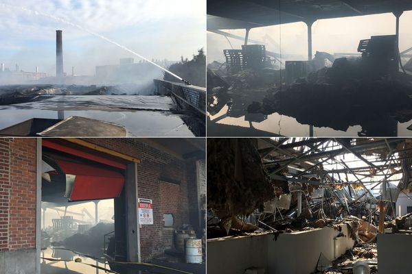 L'incendie a ravagé une entreprise de fabrication de meubles de salle de bain et un entrepôt de stockage de cartons.