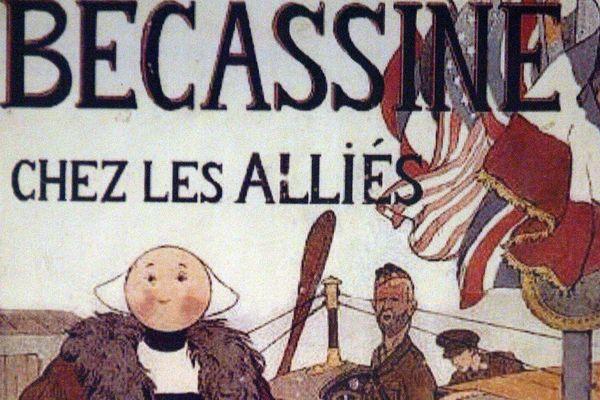 """Une couverture d'un album de Bécassine, """"Bécassine chez les Alliés"""" (Archives)"""