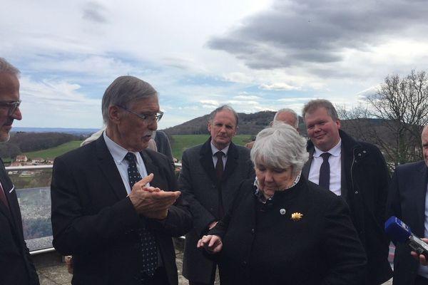 Jacqueline Gourault, ministre de la Cohésion des Territoires venue soutenir le projet d'une base arrière JO 2024 à Guéret