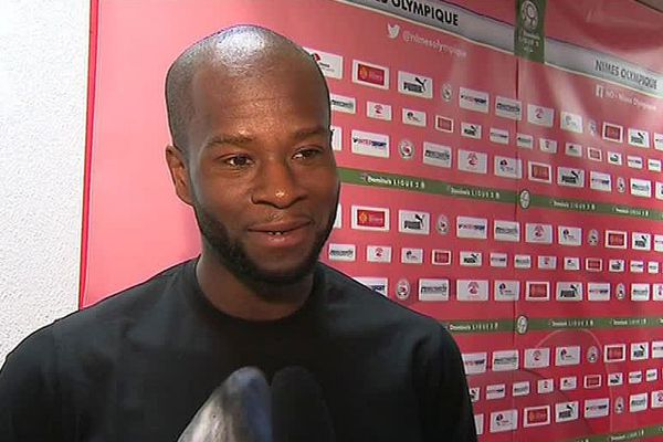 Hervé Lybohy, nouveau joueur du Nîmes Olympique - 29 mai 2018.
