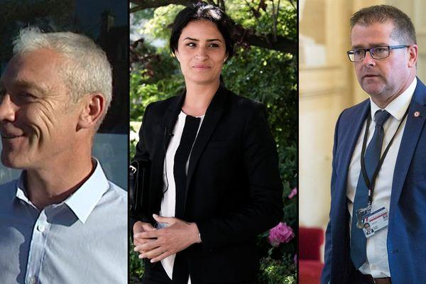Grégory Galbanon, Sonia Krimi et Bertrand Sorre, les  trois députés En Marche ! de la Manche