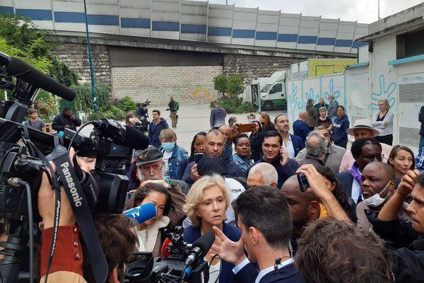 La présidente de région et candidate à l'élection présidentielle, Valérie Pécresse s'est rendue dimanche 26 septembre à Pantin.