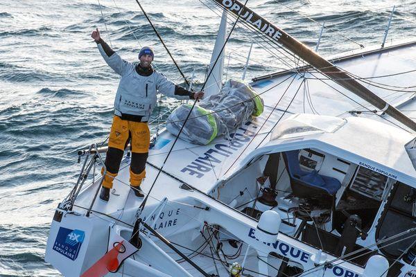 Le Finistérien a remporté le dernier Vendée Globe en janvier 2017, établissant un nouveau record de 74 jours.