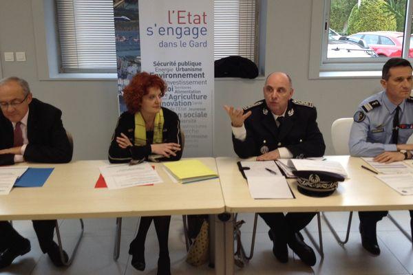 Conférence de presse à Nîmes avec le préfet, la procureure et le colonel de gendarmerie du Gard