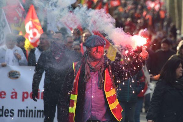 Selon les syndicats, 120 000 personnes ont participé à la manifestation du 9 janvier 2020 à Toulouse.