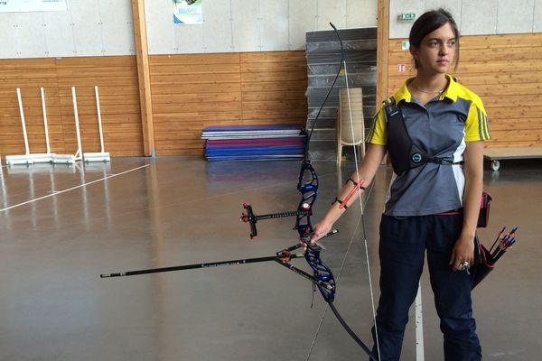 A quelques jours de son départ pour Shangaï, Audrey Adicéom s'entraîne à Riom