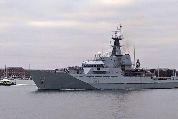 Illustration du HMS Mersey.