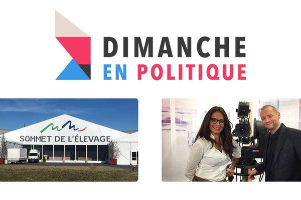 """Marie Morin et Yannick Kusy présentent """"Dimanche en Politique"""" au Sommet européen de l'élevage à Cournon d'Auvergne."""