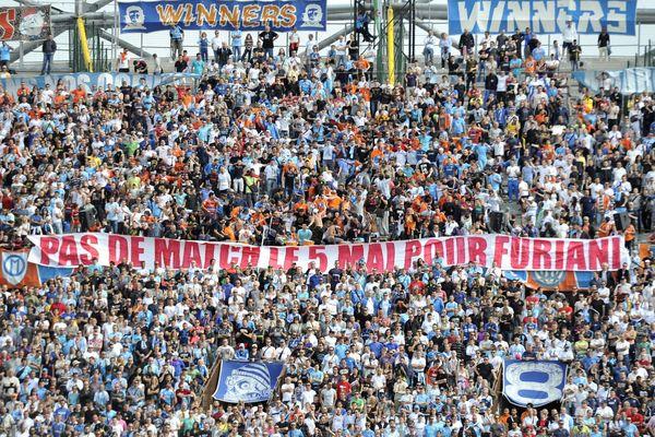 Plus de match pro les 5 mai, le soutien des supporters de l'OM, comme ici en mai 2013.
