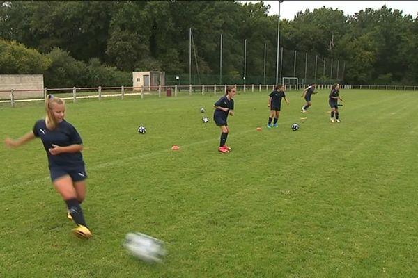 Entraînement de la section féminine des Girondins de Bordeaux