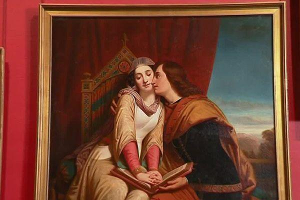 """Le tableau """"Françoise de Rimini"""" a été peint par Henri Decaisne en 1841"""