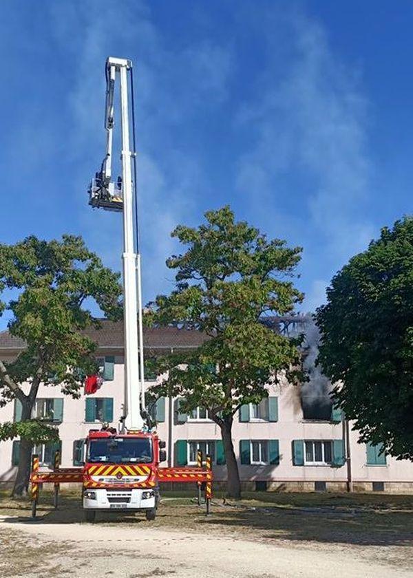 Incendie boulevard Biondi à Creil, 30 juillet 2020