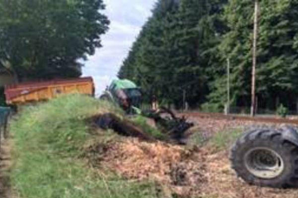 Accident entre un tracteur et un TER