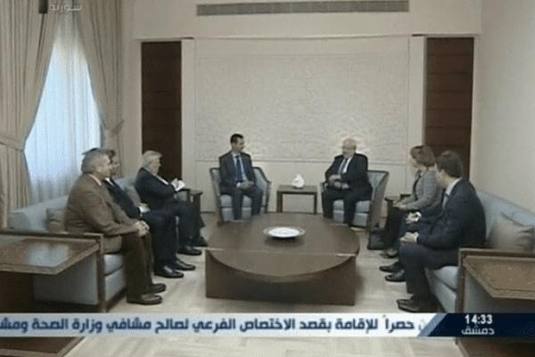 Quatre parlementaires français ont rencontré Bachar al-Assad en Syrie