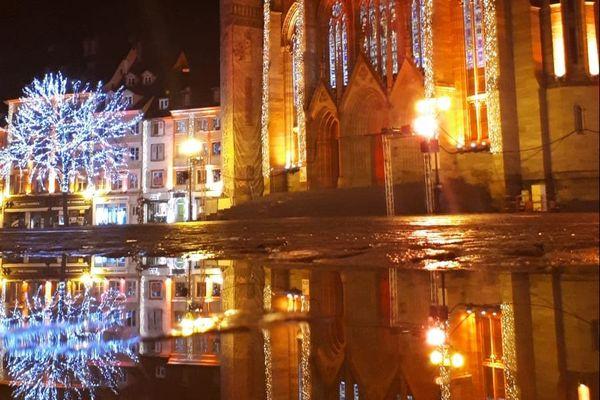 Le couvre-feu à Mulhouse, la nuit du Nouvel An 2021.