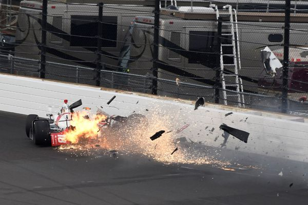 L'accident de Sébastien Bourdais le 20 mai 2017 sur le circuit d'Indianapolis
