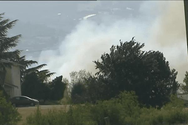 Un incendie a éclaté à Taluyers mardi après-midi... 7/7/15