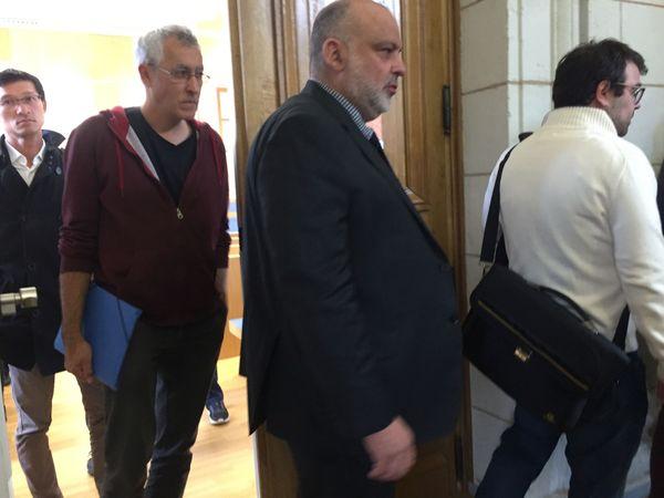 Geoffroy de Péretti, Président de la société événement Ethic accueil à la sortie de l'audience