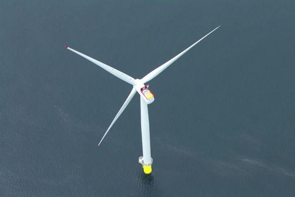 Image 3D du projet éolien en baie de Saint-Brieuc
