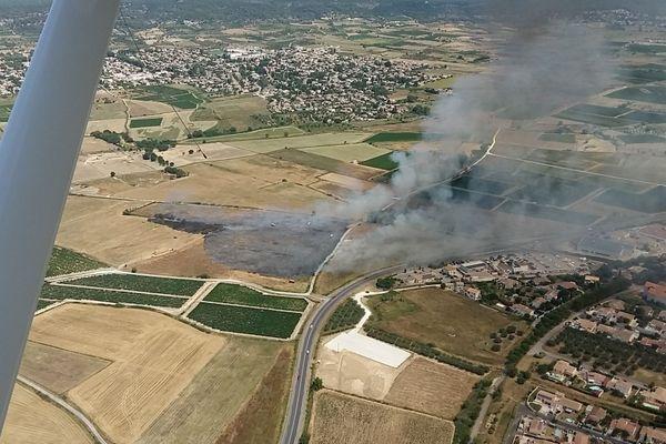 Saint-Dionizy (Gard) - un incendie détruit 2 hectares de végétation - 14 juillet 2020.