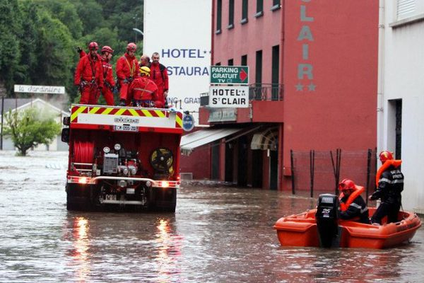 Les pompiers à l'oeuvre à Lourdes