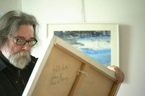 Pierre Le Preux dans son atelier en 2018