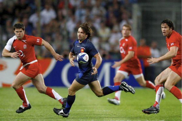 Christophe Dominici en 2007 lors d'un match amical contre l'Angleterre.
