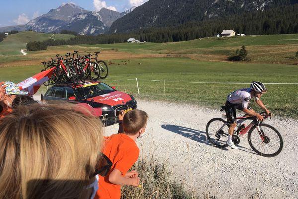 Le Suisse Marc Hirschi, vainqueur d'une étape dans ce Tour de France 2020.