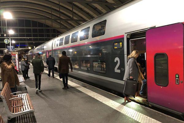 Ce vendredi 12 février, un seul TGV partait ce matin en gare de Reims.