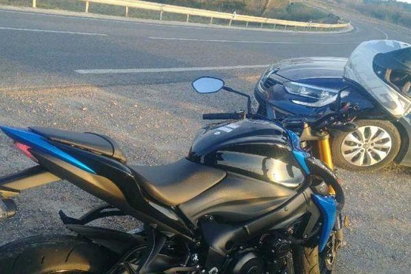 Le Pouget (Hérault) - la moto filait à 209km/h sur une route limitée à 80 - février 2019.