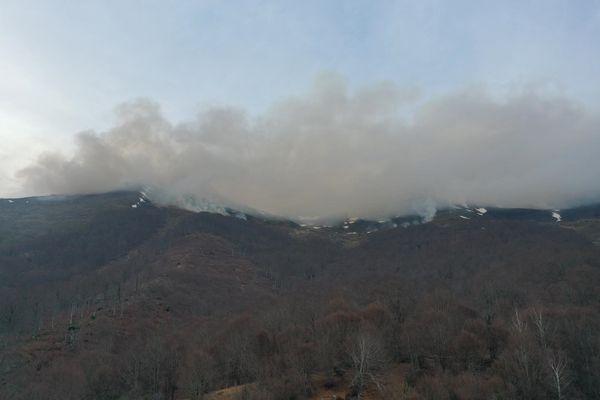 Un important incendie sur la commune de Salles dans les Hautes-Pyrénées