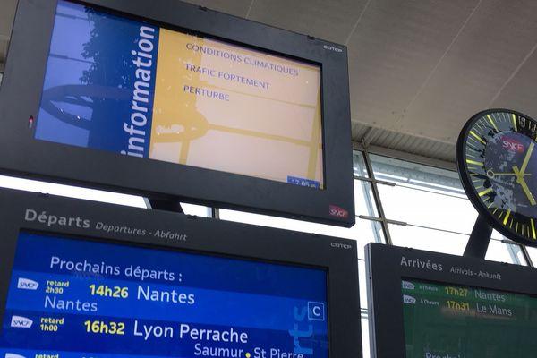 Le réseau TER des Pays de la Loire a été perturbé par les orages de ce lundi