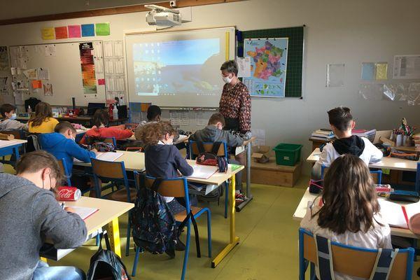 La rentrée ce 26 avril dans une école de Haute-Saône
