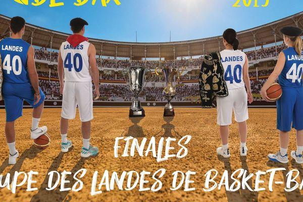 Affiche des Finales de la Coupe des Landes 2019
