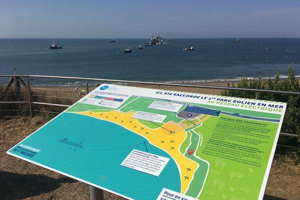 C'est au niveau de la plage de la Courance de Saint-Nazaire que le parc éolien en mer sera rattaché au réseau électrique.