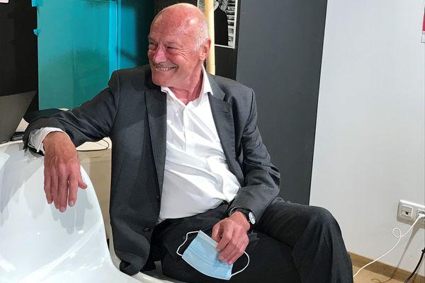Alain Rousset à sa permanence au soir du premier tour des Régionales le 20 juin 2021.