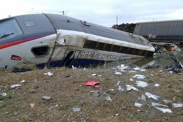 Une rame d'essai TGV a déraillé samedi sur une nouvelle portion de ligne du TGV Est pas encore en service