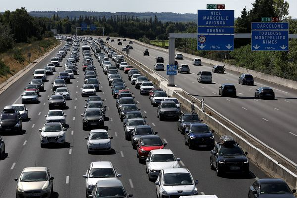 Des bouchons sur l'autoroute A7.
