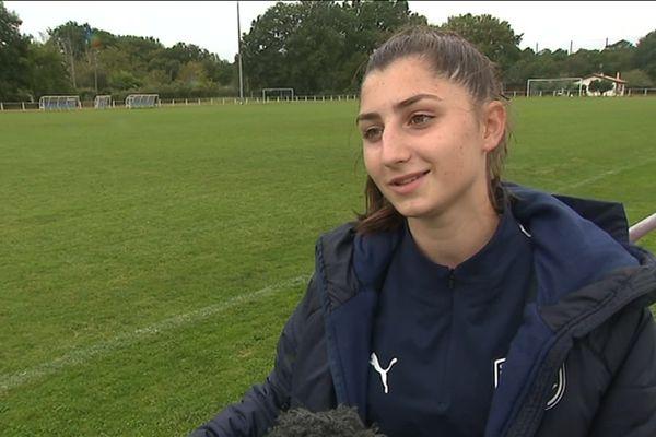 Mélanie Rieujoueuse chez les moins de 19 ans aux Girondins de Bordeaux