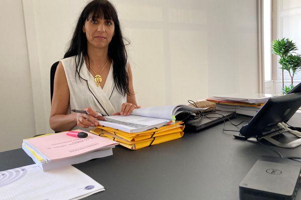 Florence Jardin, dans son bureau de l'hôtel de la communauté urbaine de Grand Poitiers.