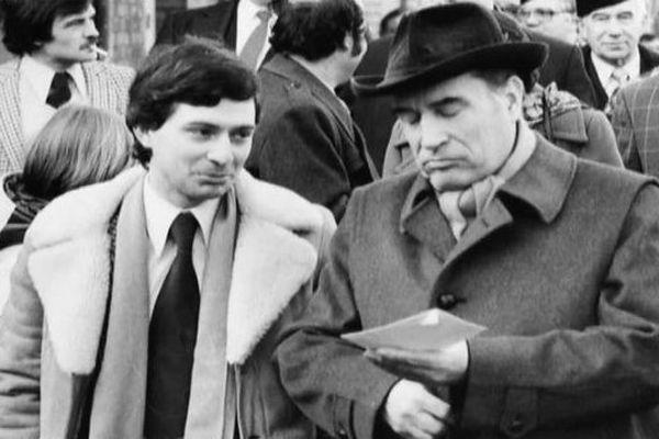 Claude Bartolone, aux côtés de François Mitterrand.