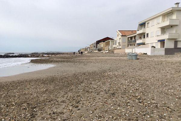 La plage de Palavas-les-flots, dans l'Hérault -17 mars 2020.