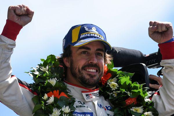 Fernando Alonso, vainqueur des 24 Heures du Mans 2018
