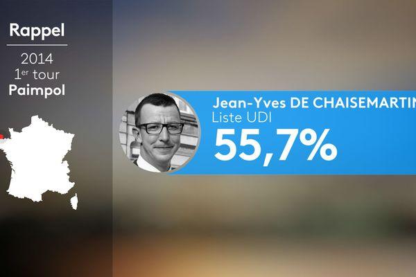En 2014, c'est Jean-Yves de Chaisemartin qui avait remporté le premier tour à Paimpol