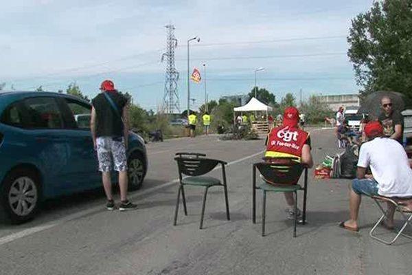 Blocage des sites de déchets de Fos-sur-Mer